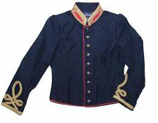 NWT £605 Ralph Lauren Girls Size 6X Blue Officer's Military Jacket Stella Band
