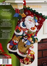 "Bucilla Patchwork Santa ~ 18"" Felt Christmas Stocking Kit #86202, Toys, New 2010"