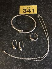 Jewelry silver earrings bracelet ring chain with pendant 925 silver item 341