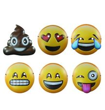 Emoji Plastic Mask Set Pack of 6 Party Supply Photo Prop Costume Disguise