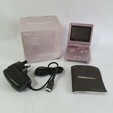 Nintendo Gameboy Advance SP Pearl Pink AGS-001 Boxed TESTED WORKING