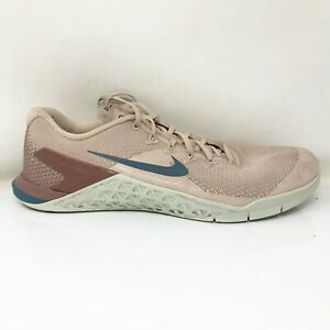 Nike Womens Metcon 4 924593-240 Beige Running Shoes Lace Up Low Top Size 10.5