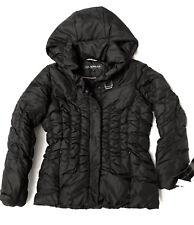VIA SPIGA BIG GIRL DOWN WINTER HOODED JACKET SHORT COAT BLACK sz M (10-12) NWT