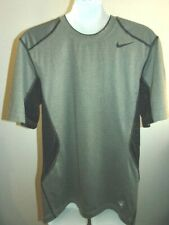 New - Men's Gray and Black Nike Pro Combat shirt, size Small, Dri-Fit / Fitted