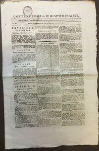 Gazette Nationale ou le Moniteur Universel du 23 vendémiaire an 13 (20/10/1804)