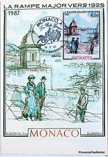 Yt 1611 LA RAMPE MAJOR 1925   MONACO CARTE MAXIMUM 1° JOUR FCP