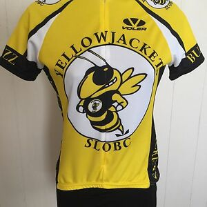 VOLER Women's Cycling Jersey Yellow Jackets SLOBC Yellow Black White No Size