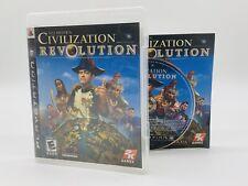 Sid Meier's Civilization Revolution (Sony PlayStation 3, 2008) PS3 TESTED CIB