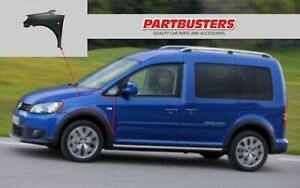 VW Caddy 2010-2015 Wing Passenger Side Left Front New Primed Insurance Approved
