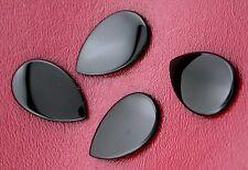 TWO 28x18 28mm x 18mm Flat Pear Black Onyx Cab Cabochon Gem Stone Gemstone boc50