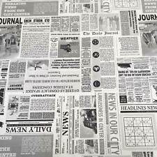 1 Dunkel Blond Stoffe Basteln Patchwork Zeitung Patchworkstoffe 97x50cm S//H