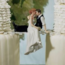 Romantic Bride Groom Couple Hug Wedding Cake Topper Bridal Resin Decoration Gift