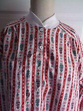 Vintage NOS Lanz of Salzburg Flannel Knit Nightgown Nightie L Pajamas Gown Midi