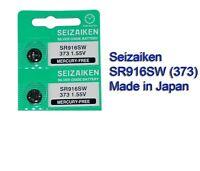 NEW Seizaiken SR916SW 373 Silver Oxide Watch Battery x2 pcs, Japan Made
