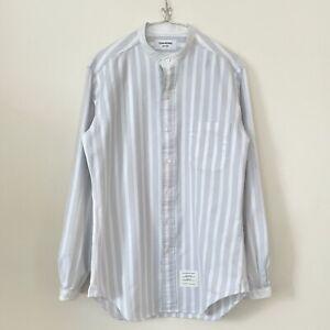 Thom Browne stripe shirt light blue white S