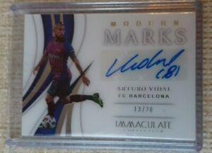 Panini Immaculate Vidal Fc Barcelona auto card 13/20