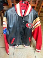 San Francisco 49ers NFL leather letterman jacket