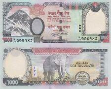 Nepal 1000 Rupees (2016) - Mt. Everest/Elephant/p75-New UNC