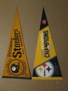 NFL Pittsburgh Steelers Super Bowl XIV & 2020 AFC North Champions Pennants
