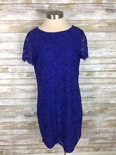 dorothy perkins lace dress purple us 10, uk 14