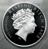 Silver Shield 1oz Proof RBF Resting Bitch Face 2019 .999 Fine Silver Round COA