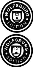 2x WOLFSBURG EDITION Vinyl Logo Vw MK1 MK2 MK3 MK4 MK5 MK6 GT TDi GTi VR6