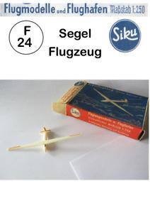 Siku F 24 Segelflugzeug Flugzeuge Plastic 1:250