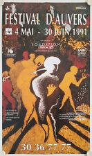 Affiche Musique FESTIVAL d'AUVERS 1991 - Charles MARCON
