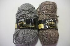 Bucilla Nordic yarn 2 part balls gray heather &brown heather ea has 40 g wool bl