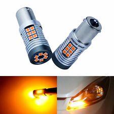 Amber LED 15W P21W 1156 BA15s Front Indicator Signal Light Bulb Vauxhall Ford VW