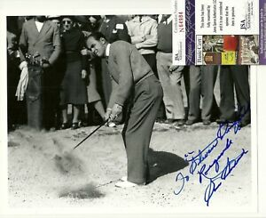 SAM SNEAD Signed 8X10 autograph PHOTO JSA SPENCE COA authentic GOLF MASTERS