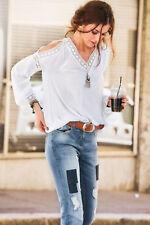 Aniston Schlupfbluse, Häkelspitze, Cold-Shoulder. Wollweiß. NEU!!! KP 39,99 €