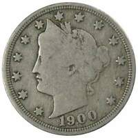1900 Liberty Head V Nickel 5 Cent Piece AG About Good 5c US Coin Collectible
