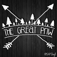 """The Great PNW Vinyl 6.5"""" Decal Pacific Northwest subaru jeep outdoors stickers"""