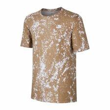 Nike Ultra Splatter Print T-Shirt White Khaki US Size L FREE SHIPPING BRAND NEW