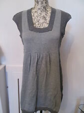 HILLARD & HANSON - GREY SPARKLE SQUARED NECK SLEEVELESS MINI DRESS size M