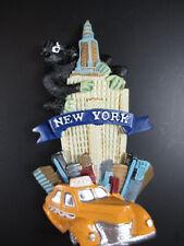 New York Magnet Empire Taxi King Kong 8 cm Poly Souvenir USA America, New