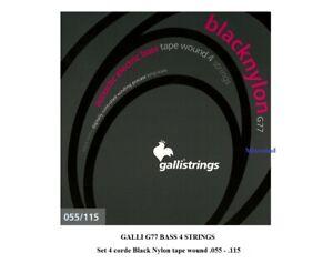 GALLI G77 BASS 4 STRINGS Set 4 corde Black Nylon 055/115 basso elettro acustico