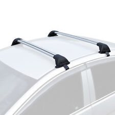 110-120cm Universal Aluminum Roof Rail Rack Cross Bars w/ Lock Cargo Carrier US
