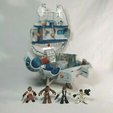 Star Wars Galactic Heroes Hasbro 2011 Millennium Falcon Playset with 4 Figures