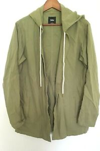 SPORTSGIRL Ladies Designer Green Long Sleeve Hooded Parka Jacket size 10 EUC