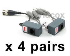 4 Pairs CCTV Passive Video Audio Power Balun BNC to Cat5/6 UTP Cable CCTV Camera
