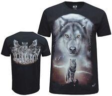 Nuevo Lobo Indio Nativo Americano Eagle Biker T Shirt, Impresión Frontal y Trasero M - 3XL