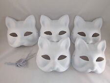 New Japanese Fox KITSUNE Mask OMEN 5 set Cosplay Costume Rare Halloween Japan
