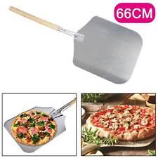 """26""""Pizza Peel Shovel Paddle Pancake Oven Baking Tools Wood Handle Aluminum UK"""