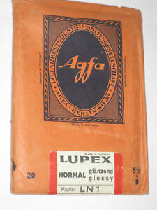 AGFA Camera Photograph Film Lupex Normal Glossy LN1 6 1/2 x 9 cm Germany