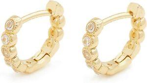 Gorjana Madison Shimmer Huggies Gold Small Earrings 1811-015-02-G