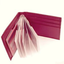 Primehide Leather Landscape Credit Card Holder Wallet Pink - 782