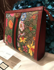 Stunner!* Authentic Gucci Ophidia GG Flora Pouch Clutch Bag Limited Edition NWT