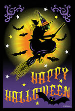 NEW LARGE TOLAND HAPPY HALLOWEEN FLAG FLIGHT OF THE WITCH  28 x 40 SPOOKY